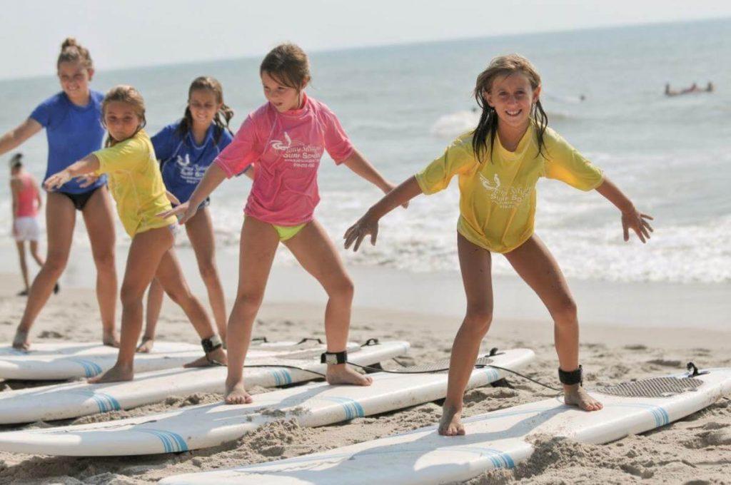 actividades para niños en una playa