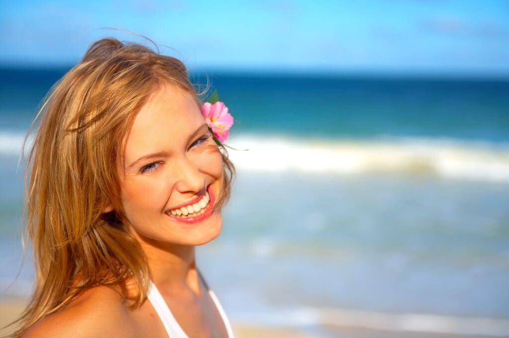maquillaje perfecto en la playa