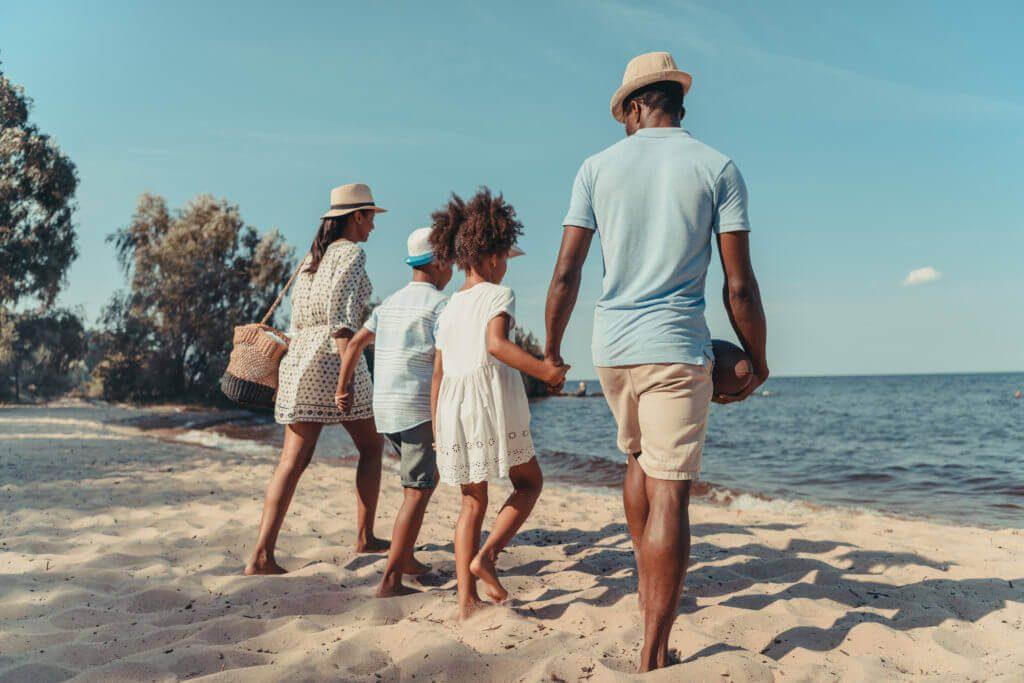 vacaciones con bebes playa